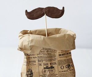 food, cute, and moustache image