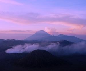 mountains, sky, and purple image