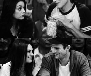 couple, Mila Kunis, and ashton kutcher image