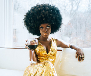 aesthetic, wine, and Afro image