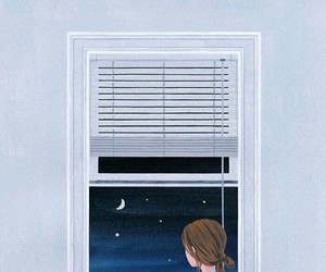 girl, art, and night image