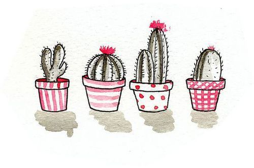 cactus, pink, and art image