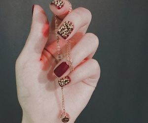 gold, jewerly, and nails image