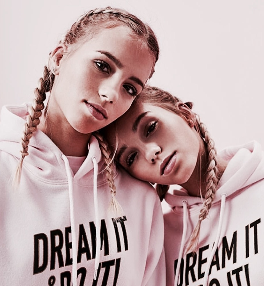twins, pink, and lisa and lena image