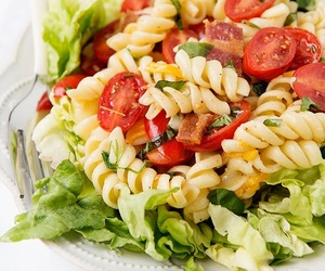 pasta, food, and salad image