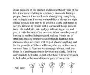quotes, rupi kaur, and life image
