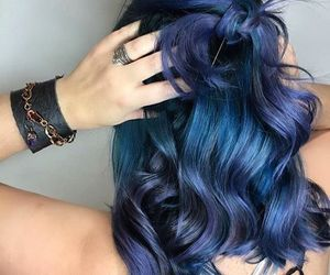blue hair, colourful, and style image