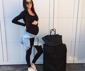 pregnant, baby, and mom image
