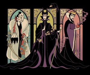 illustration, threadless, and evil queen image