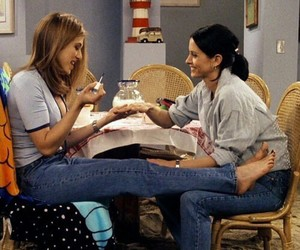friends, monica, and rachel green image