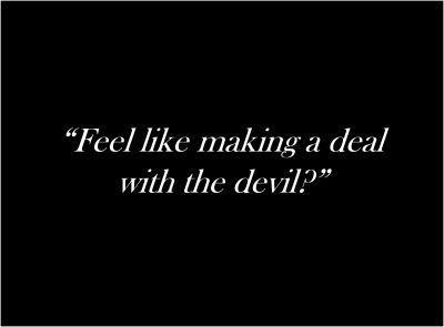 Devil, black, and deal image
