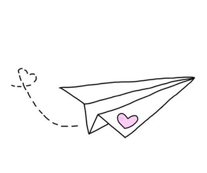 overlay, heart, and airplane image