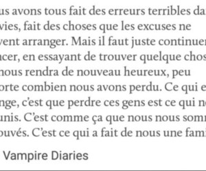 francais, phrase, and Vampire Diaries image