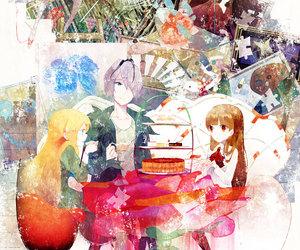 girl, anime, and boy image