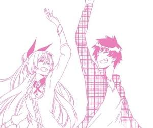 couple, happy, and chitoge kirisaki image