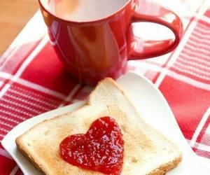 heart, breakfast, and toast image