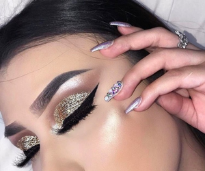 beauty, gold, and sparkle image
