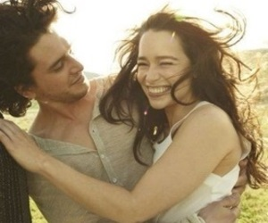 emilia clarke, game of thrones, and kit harington image