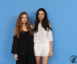 girls, holland roden, and crystal reed image