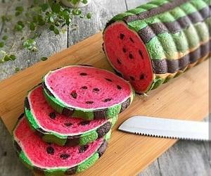 bread and watermelon image