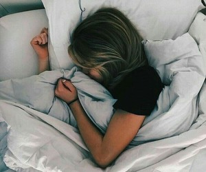 bed, girl, and girly image