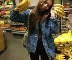 girl, banana, and tumblr image