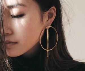 girl, beauty, and earrings image