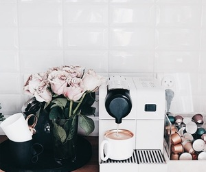 coffee, design, and flowers image