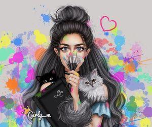 girly_m, art, and cat image