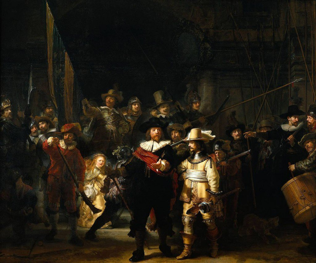 art history, fine arts, and the night watch image