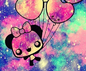 background, balloons, and colorful image