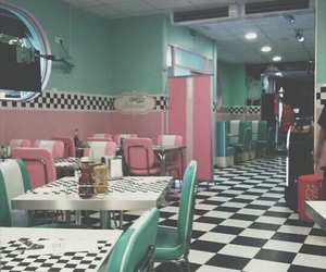 vintage, restaurant, and retro image