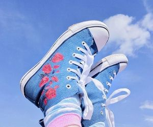 blue, aesthetic, and shoes image