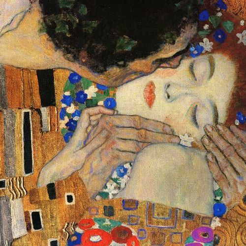 art, the kiss, and Gustav Klimt image