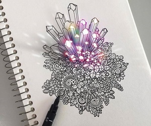 art, drawing, and crystal image