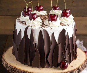 black forest, cake, and food image