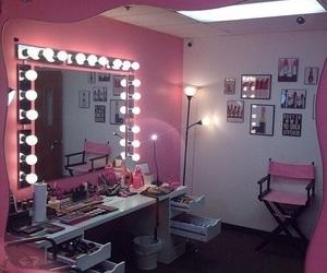 makeup, pink, and room image