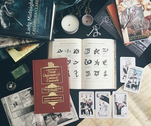 shadowhunters, books, and runes image