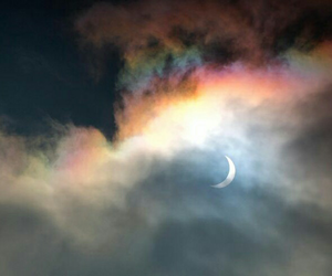 moon, sky, and rainbow image