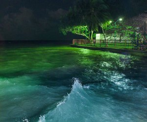 green, ocean, and water image