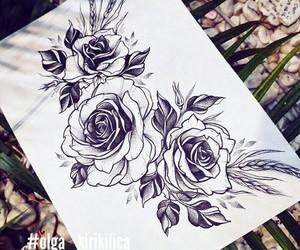 fashion, flowers, and illustration image
