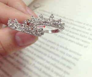 beautiful, book, and crown image