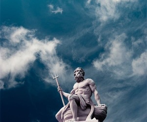 poseidon, statue, and god image