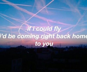 Lyrics, if i could fly, and one direction image