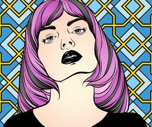 digital, girls, and grunge image