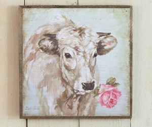 art, cow, and painting image