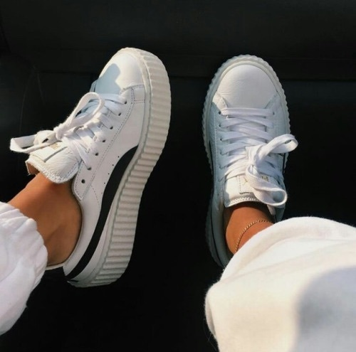 shoes, puma, and white image