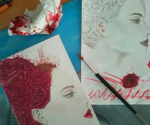 aquarelle, drawing, and colors image