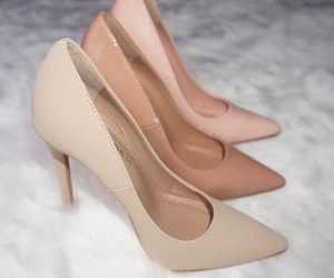 shoes, heels, and Nude image