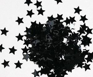 stars, black, and white image